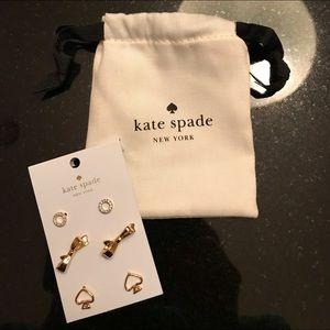 Kate Spade ♠️ NWT Beautiful Earring Trio